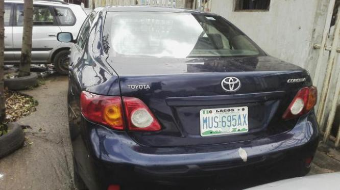 Nigerian used toyota corolla