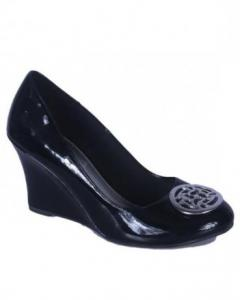 Fioni Ladies High Heel Wedge Shoes - Black size:38