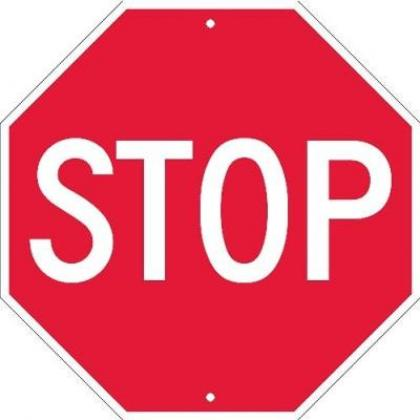60cm Aluminum Reflective Octagonal Stop Sign By Hiphen Solution Services Ltd.