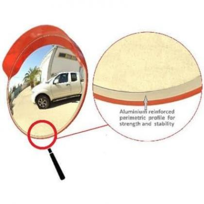 60cm Outdoor Road Traffic Convex PC Mirror Safety & Security By Hiphen Solutions Services Ltd.