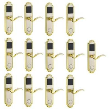 Door Lock With RFID Card Access Control - Golden Edge - 13 Sets By Hiphen Solutions Services Ltd.