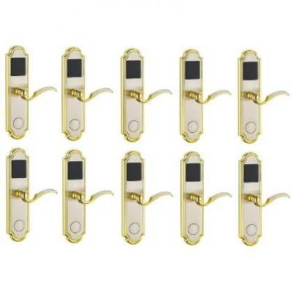 Door Lock With RFID Card Access Control - Golden Edge - 10 Sets By Hiphen Solutions Services Ltd.