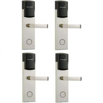 Door Lock With RFID Card Access Control - 304 Stainless - 4 Set By Hiphen Solutions Services Ltd.