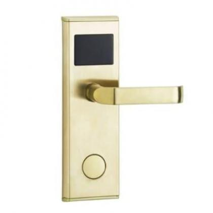 Door Lock With RFID Card Access Control - Gold - 1 Set By Hiphen Solutions Services Ltd.