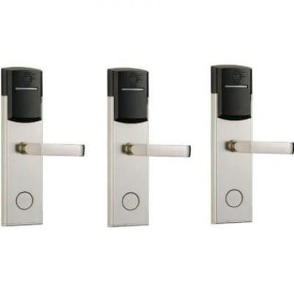 Hotel Door Lock With RFID Card Access Control - 304 Stainless - 3 Set By Hiphen Solutions Services Ltd.