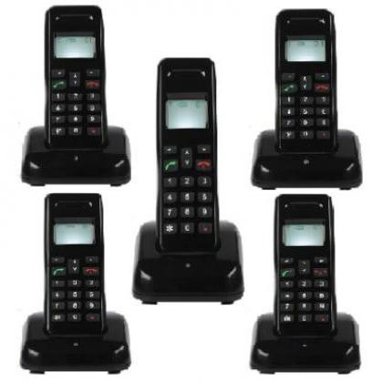 Mobile Wireless Intercom Phone - 5 Extensions Cordless Handsets By Hiphen Solutions Services Ltd.