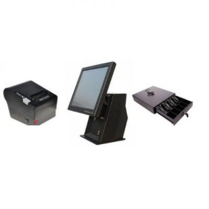 "Point of Sale System Hardware Only Kit F – 15"" Touchscreen, Receipt Printer, Cash Drawer By Hiphen Solutions Services Ltd."