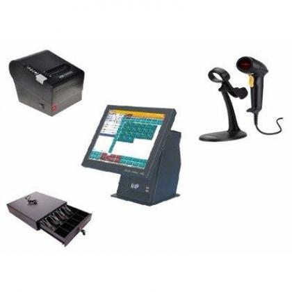 """POS Kit D - 15"""" Touchscreen + Software + Receipt Printer + Barcode Scanner By Hiphen Solutions Services Ltd."""