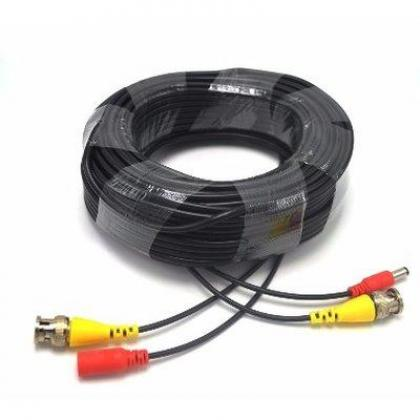 Pre-made All-in-One 30M 100Ft BNC Video and Power Cable with Connector for CCTV Security Camera By Hiphen Solutions Services Ltd.