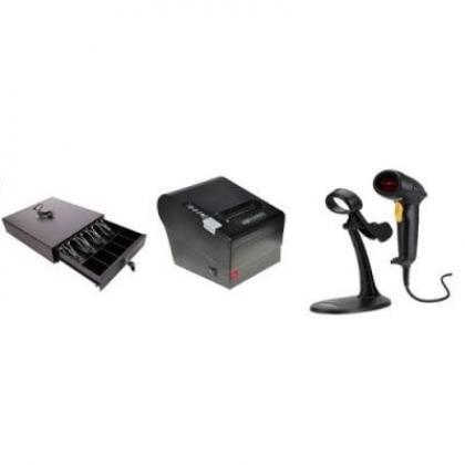 Receipt Printer, Barcode Scanner, Cash Drawer POS Hardware Kit By Hiphen Solutions Services Ltd.