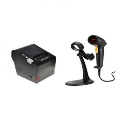 Receipt Printer & Barcode Scanner POS Hardware Kit By Hiphen Solutions Services Ltd.