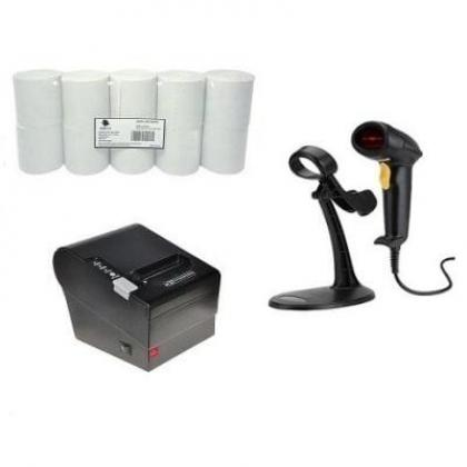 Receipt Printer, Barcode Scanner & Thermal Paper POS Hardware Kit By Hiphen Solutions Services Ltd.