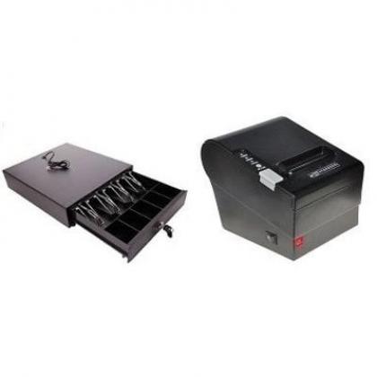 Receipt Printer & Cash Drawer POS Hardware Kit By Hiphen Solutions Services Ltd.