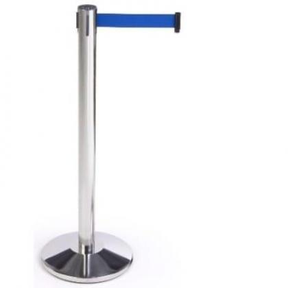 Retractable Belt Stanchion Crowd Queue Control Barrier Post - 1 Poles + 1 Rope By Hiphen Solutions Services Ltd.