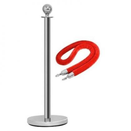 Rope Type Stanchion Crowd Queue Control Barrier Post - 1 Poles + 1 Rope By  Hiphen Solutions Services Ltd.