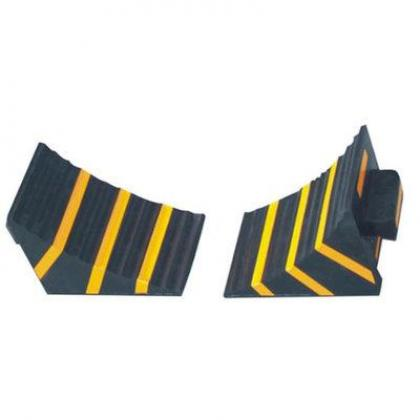 Rubber Wheel Chocks - Wheel Stopper for Trucks - 2 Sets By Hiphen Solutions Services Ltd.