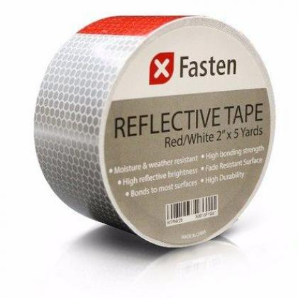 Safety Reflective Tape - Red & White - 2 Inches by 5 Yards By Hiphen Solutions Services Ltd.