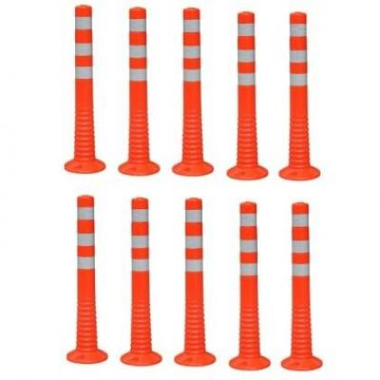 Surface Mount Delineator Reflective Warning Post - 10 Pieces By Hiphen Solutions Services Ltd.