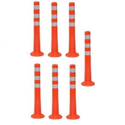 Surface Mount Delineator Reflective Warning Post - 7 Pieces By Hiphen Solutions Services Ltd.
