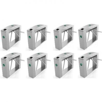 Waist Height Tripod Turnstile Access Control Gate - Set Of 8