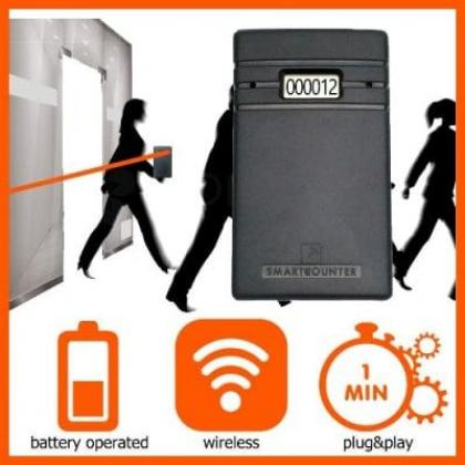 Wireless Sensor Visitor & People Door Traffic Counter By Hiphen Solution Services Ltd.
