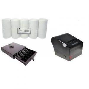 Receipt Printer, Cash Drawer & Thermal Paper POS Hardware Kit By Hiphen Solutions Services Ltd.