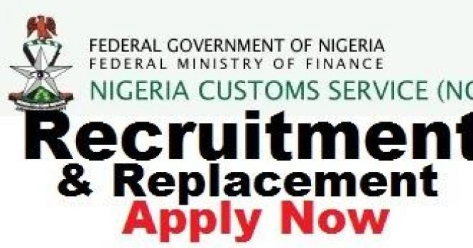 NIGERIA CUSTOM SERVICE REPLACEMENT PROGRAM 2018/2019 CONTACT 07062833115