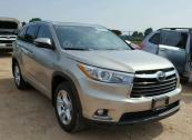NIGERIA CUSTOM AUCTION SALES OF TOYOTA HIGHLANDER 2016 MODEL CALL US ON 07033526206