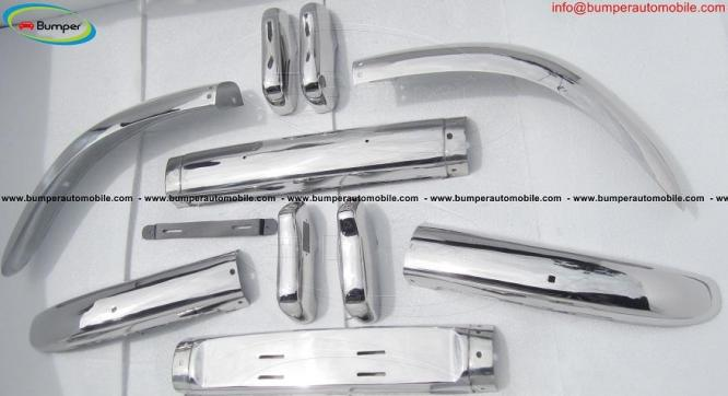 Volvo PV 544 Euro type bumper kit (1958-1965) stainless steel