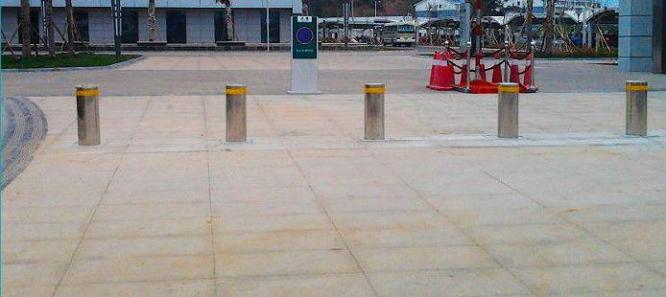 Automotive Steel Electronic Barriers Hydraulic Bollards For Security By HIPHEN SOLUTIONS SERVICES LTD.