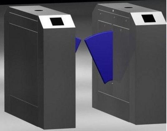 IR Sensor Flap Barrier Turnstile Security System  By HIPHEN SOLUTIONS SERVICES LTD.