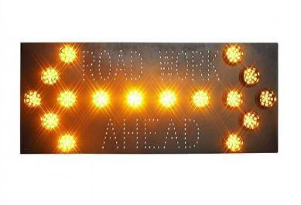 Road Works Guide Sign Solar Traffic Signal By HIPHEN SOLUTIONS SERVICES LTD.
