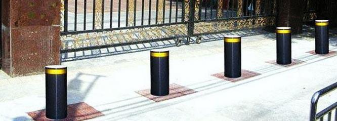 Steel Pipe Hydraulic Bollards Remote Road Traffic Barrier for Safety  By HIPHEN SOLUTIONS SERVICES LTD.