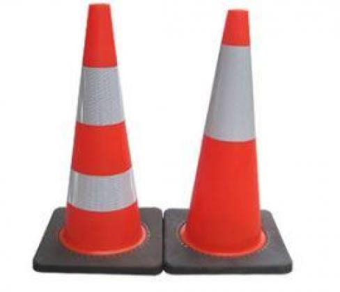 Traffic Orange Color Cone By HIPHEN SOLUTIONS SERVICES LTD.