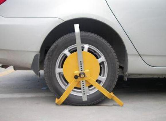 Yellow Stainless Steel Wheel Lock By HIPHEN SOLUTIONS SERVICES LTD.