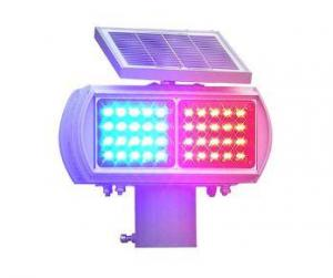 One Red And One Blue Solar Double Sides Flash Warning Light By HIPHEN SOLUTIONS