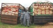 NIGERIA CUSTOM SERVICE RICE 50KG AND GROUNDNUT 25 LITRES