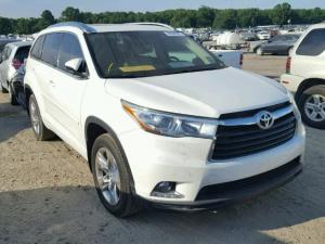 2015 TOYOTA HIGHLANDER LIMITED PURE WHITE WITH GOOD INTERIORS