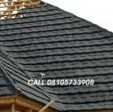 SHINGLE BLACK WITH WHITE PATCHES STONE COATED ROOFING TILES IN NIGERIA