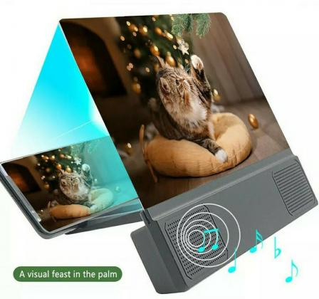 12 Inch 3D Mobile Screen HD Magnifier With Bluetooth Speaker