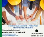 PROJECT MANAGEMENT + PRIMAVERA TRAINING